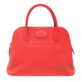 Hermes Bolide bag 31 Bougainvillier Clemence leather Gold hardware