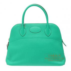 Hermes Bolide bag 31 Menthe/Mint green Clemence leather Silver hardware