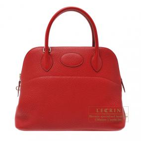 Hermes Bolide bag 31 Rouge garance/Bright red Clemence leather Silver hardware