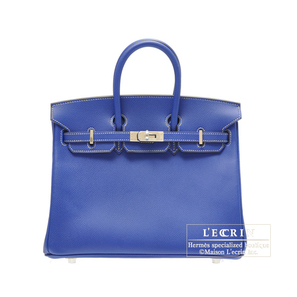Hermes Candy Birkin bag 25 Blue Electric Epsom leather Silver hardware