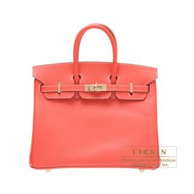 Hermes Candy Birkin bag 25 Rose jaipur/Indian pink Epsom leather Champagne Gold hardware