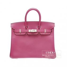 Hermes Candy Birkin bag 25 Tosca Epsom leather Silver hardware