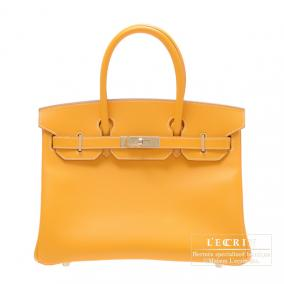 Hermes Candy Birkin bag 30 Jaune d\'or/Yellow gold Epsom leather Champagne Gold hardware