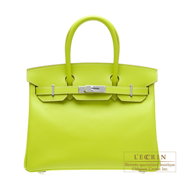 5a69a7f18e ... inexpensive hermes candy birkin bag 30 kiwi kiwi green epsom leather  silver hardware 94c70 52cc3 ...
