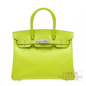 Hermes Candy Birkin bag 30 Kiwi/Kiwi green Epsom leather Silver hardware