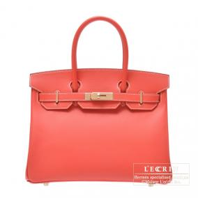 Hermes Candy Birkin bag 30 Rose jaipur/Indian pink Epsom leather Champagne Gold hardware