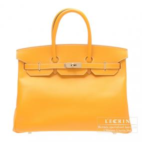 Hermes Candy Birkin bag 35 Jaune d\'or/Yellow gold Epsom leather Champagne Gold hardware