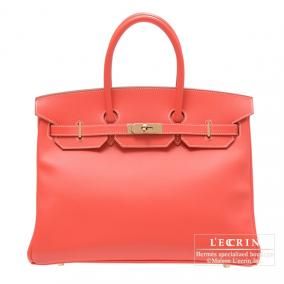 Hermes Candy Birkin bag 35 Rose jaipur/Indian pink Epsom leather Champagne Gold hardware