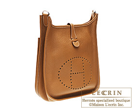 aa83d19f540d Hermes Evelyne II bag PM Gold Clemence leather Silver hardware -  400.00