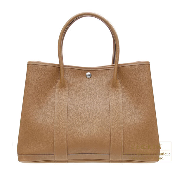 Hermes Garden Party bag PM Alezan/Chestnut brown Negonda leather