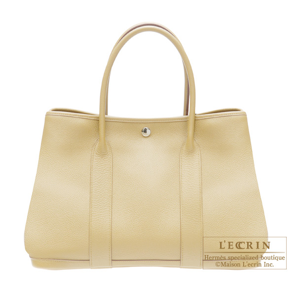 Hermes Garden Party bag PM Beige Buffalo leather