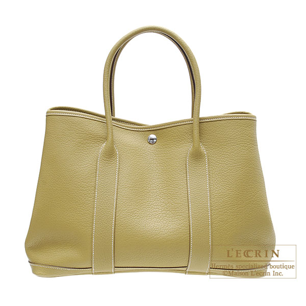 Hermes Garden Party bag PM Cardamome/Cardamon green Negonda leather