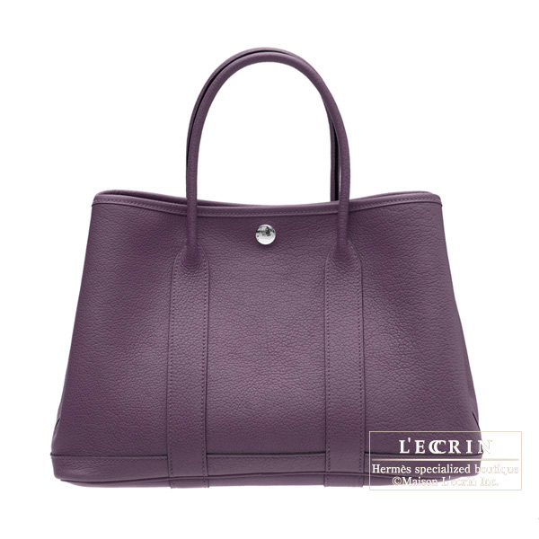 Hermes Garden Party bag PM Cassis Negonda leather