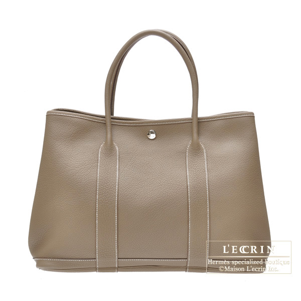 Hermes Garden Party bag PM Etoupe/Taupe grey Buffle Sindhu
