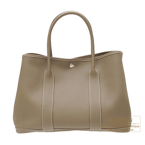 Hermes Garden Party bag PM Etoupe/Taupe grey Negonda leather