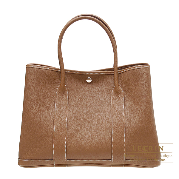 Hermes Garden Party bag PM Gold Negonda leather