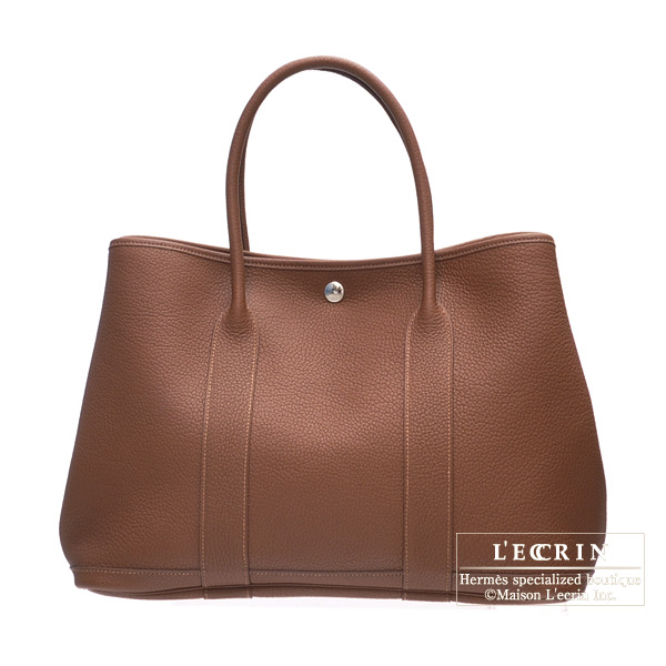 Hermes Garden Party bag PM Marron dinde Negonda leather