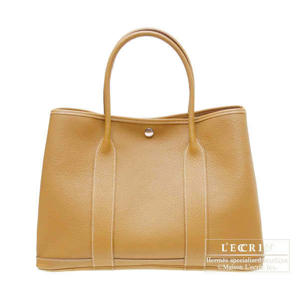 Hermes Garden Party bag PM Natural Fjord leather