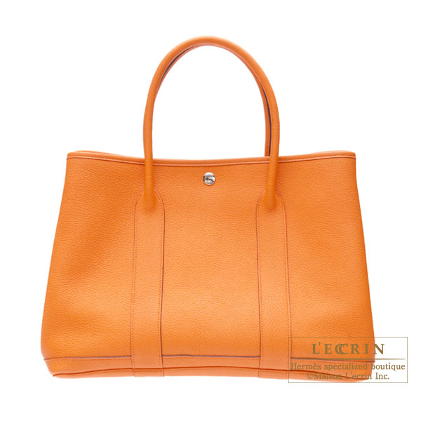 Hermes Garden Party bag PM Orange Negonda leather