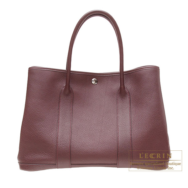 Hermes Garden Party bag PM Prune/Plum purple Negonda leather