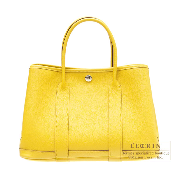 Hermes Garden Party bag PM Soleil/Yellow Buffalo leather