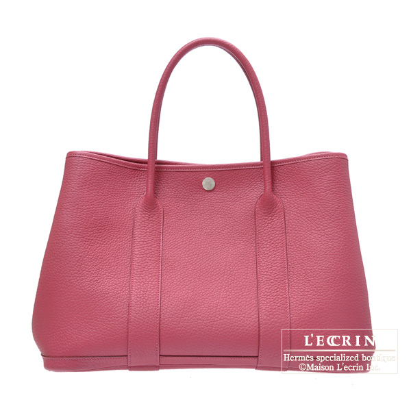 Hermes Garden Party bag PM Tosca Negonda leather