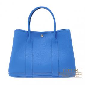 Hermes Garden Party bag PM Blue hydra Fjord leather