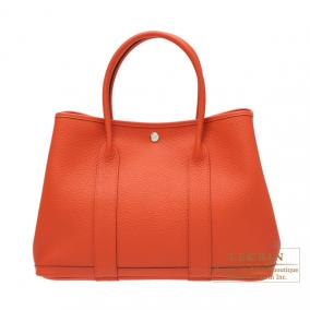 Hermes Garden Party bag PM Capucine/Capucine orange Country leather