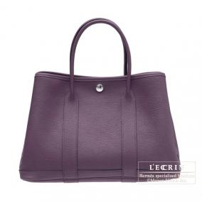 Hermes Garden Party bag PM Cassis Fjord leather