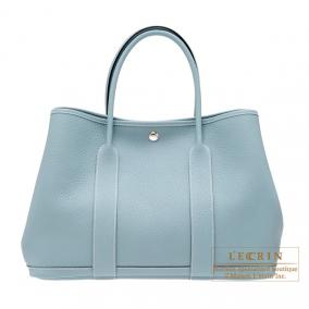 Hermes Garden Party bag PM Ciel/Sky blue Country leather
