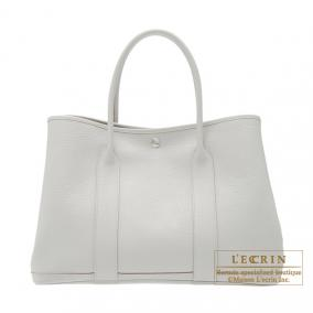 Hermes Garden Party bag PM Pearl Grey Fjord leather