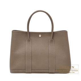 Hermes Garden Party bag PM Quadrige Etoupe Country leather