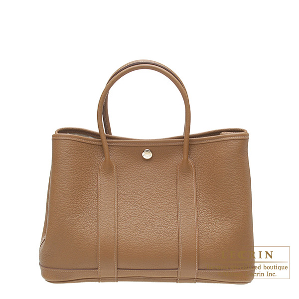 Hermes Garden Party bag TPM Alezan/Chestnut brown Negonda leather