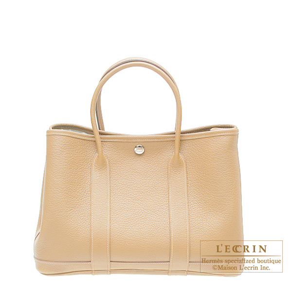 Hermes Garden Party bag TPM Beige Buffalo leather
