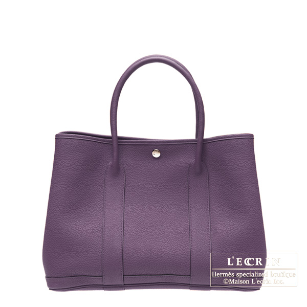 Hermes Garden Party bag TPM Cassis Fjord leather