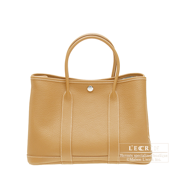 Hermes Garden Party bag TPM Natural Fjord leather