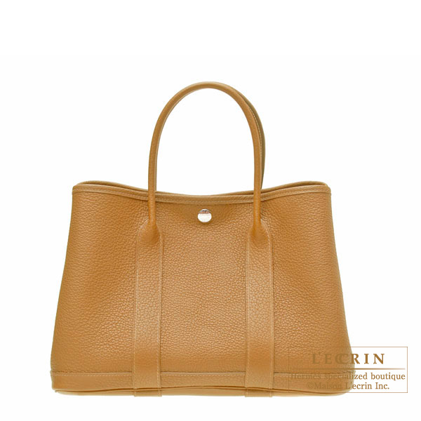 Hermes Garden Party bag TPM Ocre/Ocher Buffalo leather