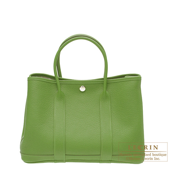 Hermes Garden Party bag TPM Pelouse/Bright green Negonda leather