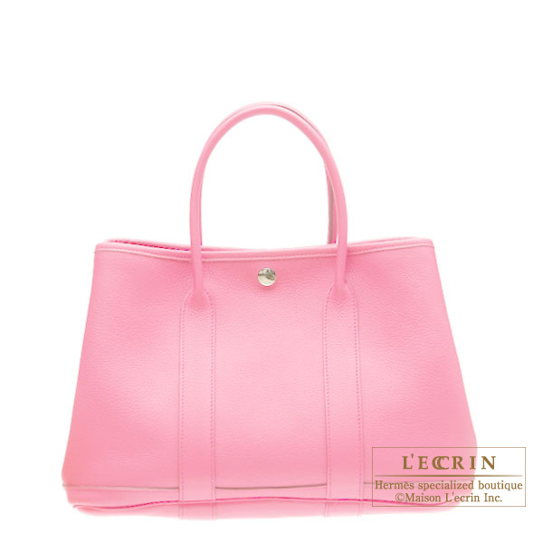 Hermes Garden Party bag TPM Pink Buffalo leather