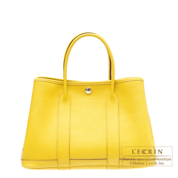 Hermes Garden Party bag TPM Soleil/Yellow Buffalo leather