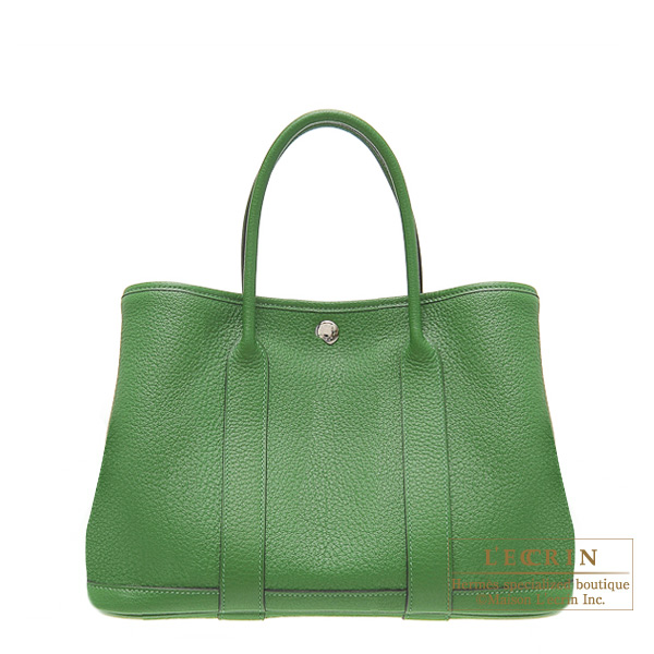Hermes Garden Party bag TPM Vert Benghal Buffalo leather