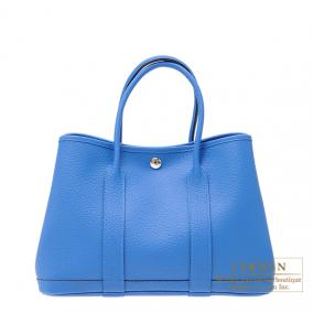 Hermes Garden Party bag TPM Blue hydra Country leather