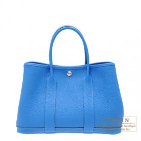 Hermes Garden Party bag TPM Blue hydra Fjord leather