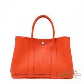 Hermes Garden Party bag TPM Capucine/Capucine orange Country leather