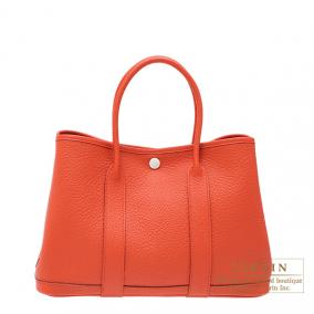 Hermes Garden Party bag TPM Capucine/Capucine orange Negonda leather