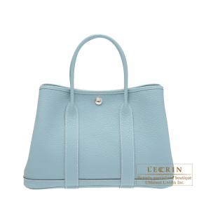 Hermes Garden Party bag TPM Ciel/Sky blue Country leather
