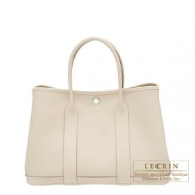 Hermes Garden Party bag TPM Craie Country leather