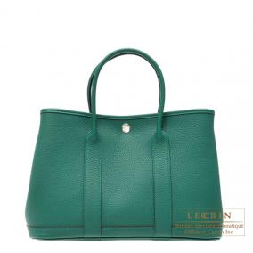 Hermes Garden Party bag TPM Malachite/Malachite green Negonda leather