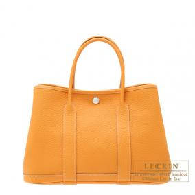 Hermes Garden Party bag TPM Moutarde/Mustard yellow Country leather