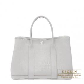 Hermes Garden Party bag TPM Pearl Grey Fjord leather